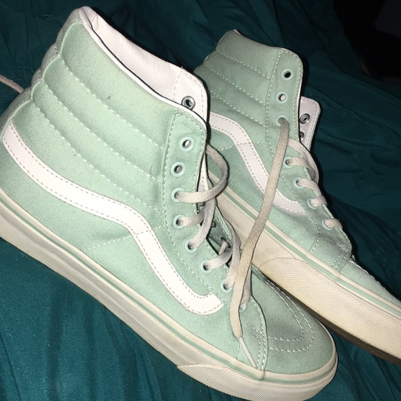 Vans Shoes   Mint High Top Vans   Poshmark
